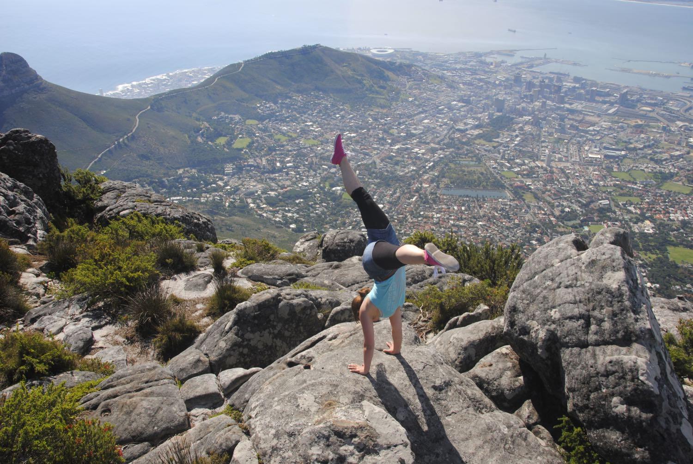 Handstand Kapstadt Tafelberg